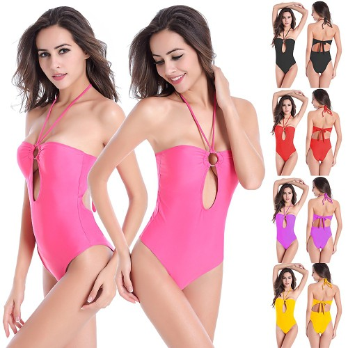 Triangle High Hip One-piece Swimsuit