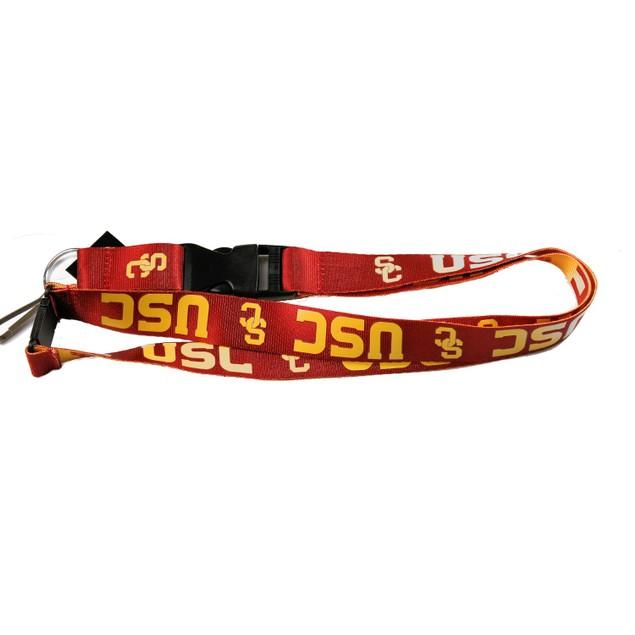 USC Trojans Reversible Clip Lanyard Keychain Id Ticket Holder