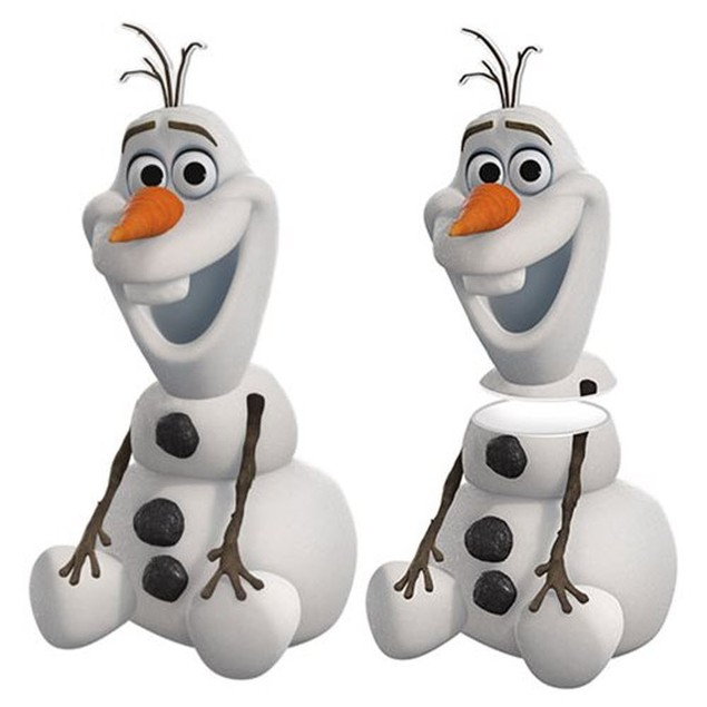 Frozen Olaf Sculpted Ceramic Cookie Jar Josh Gad Disney Movie Gift