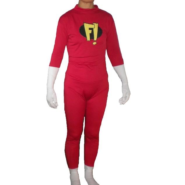 Freakazoid Adult Costume Body Suit Spandex F! Dexter Superhero Freakazoid!