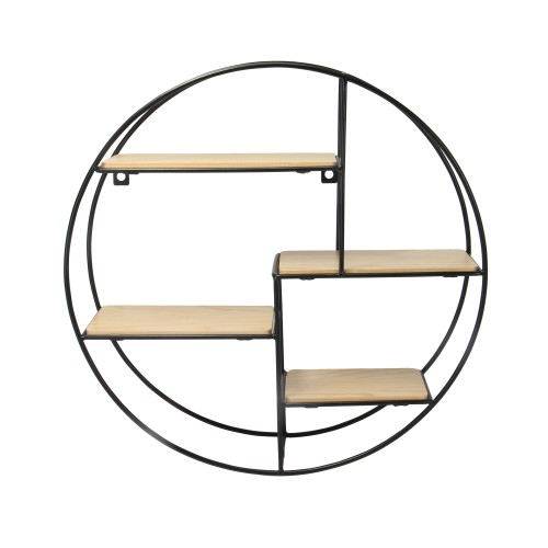 Floating Circle Shelf | MandW 4 Tier