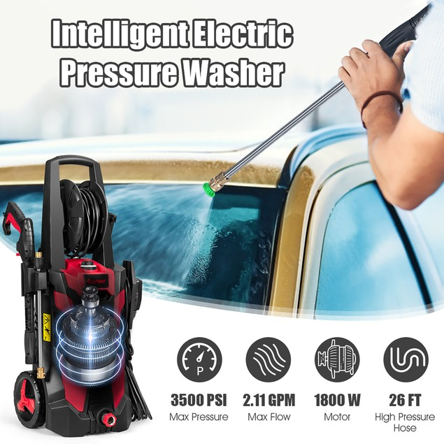 Costway 3500 PSI 2.1GPM Electric Pressure Washer