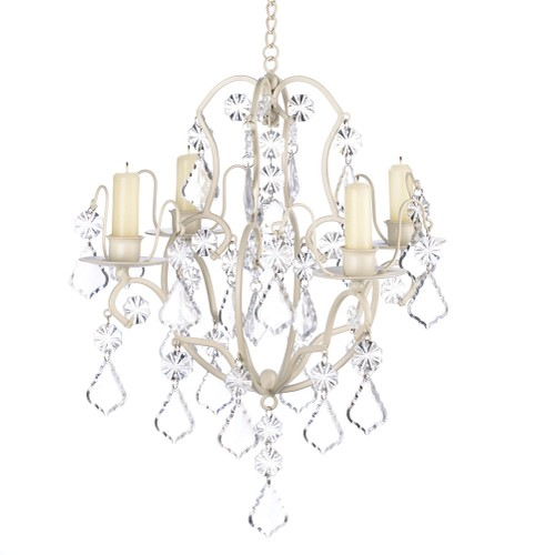 Koehler Home Decor Ivory Baroque Candle Chandelier