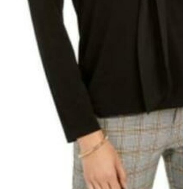Charter Club Women's Woven Tie Top Black Size X-Large