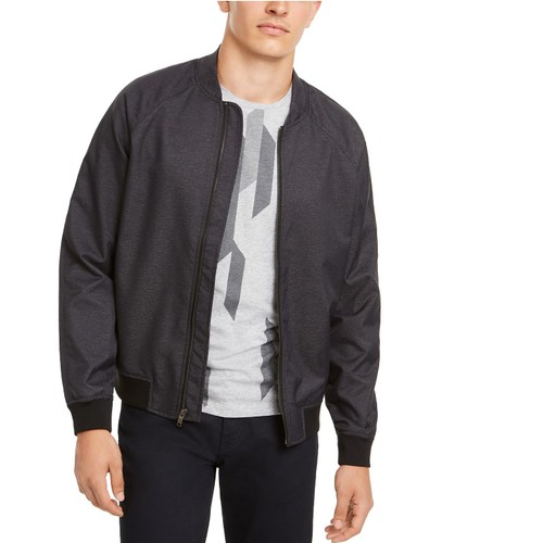 Alfani Men's Deep Twill Bomber Jacket Blue Size Medium