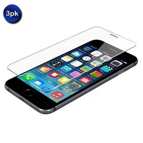 3 Pack: Shatter-Proof Tempered Glass Screen Protector For All iPhones