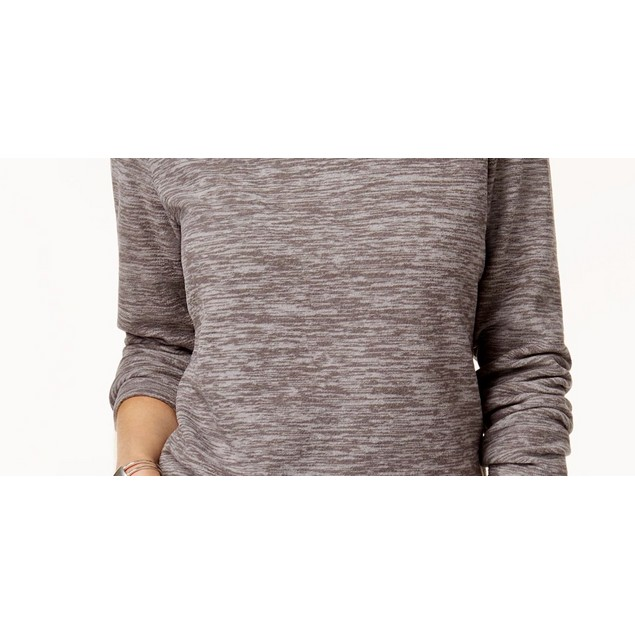 Karen Scott Women's Sport Space Dye Microfleece Top Charcoal Size XX-Large
