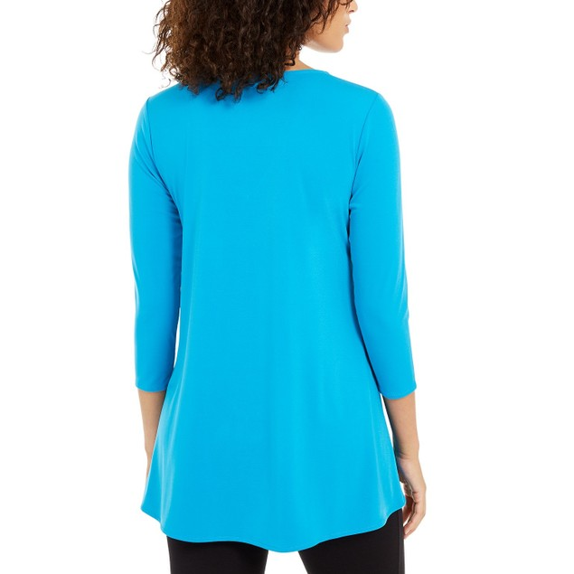 Alfani Women's Pullover Top With Hardware Blue Size Extra Small