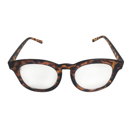 Brown Tortoise on Gold Clear Lens With Side Shield Sunglasses