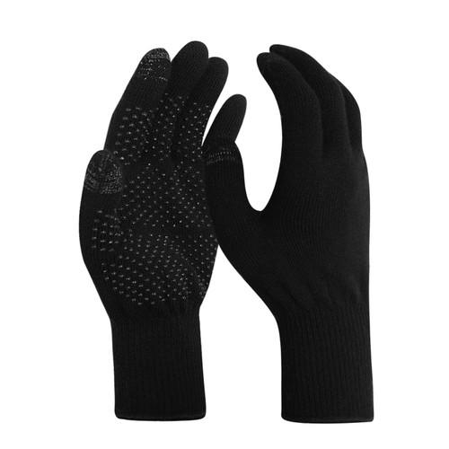 EvridWear Merino Wool Gloves with Touchscreen and PVC Dotted Grips