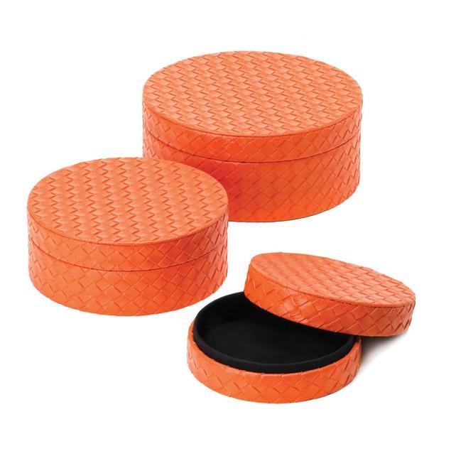 Koehler Orange Keepsake Boxes Trio