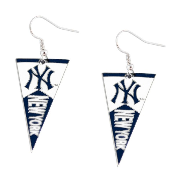 New York Yankees MLB Pennant Dangle Earring