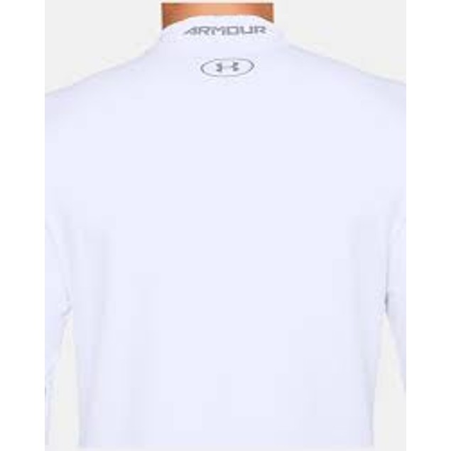 Under Armour Men's Coldgear Fitted Shirt White Size X-Large
