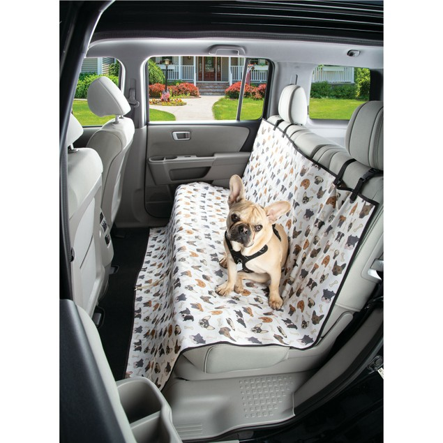 Waterproof Dog Seat Cover Auto Seat Protector Dog Face Printing