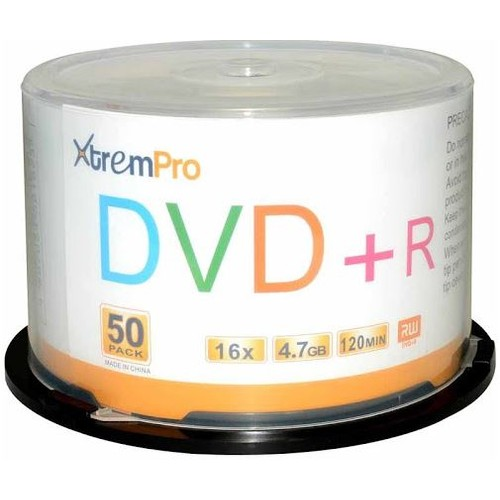 DVD+R 16X 4.7GB 120 Min Recordable DVD 50 Pk Blank Discs in Spindle case
