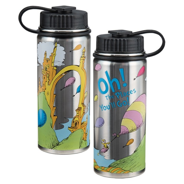 Dr. Seuss Oh the Places You'll Go 18 oz Stainless Steel Water Bottle