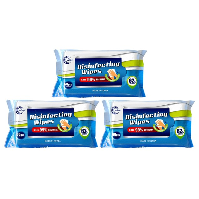 Sanitizing Wipes with 62% Alcohol (60-Count)