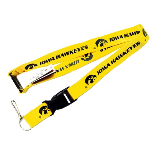 Iowa Hawkeyes Clip Lanyard Keychain Id Ticket - Yellow