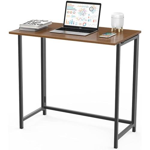 Naspaluro Folding Computer Desk No Assembly Writing Desk