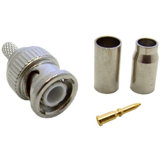 RG58 Stranded BNC Connector, 3 Piece Set