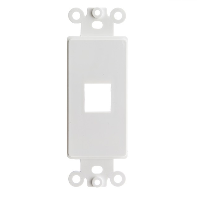 Decora Wall Plate Insert, White, 1 Keystone Jack, Single Gang