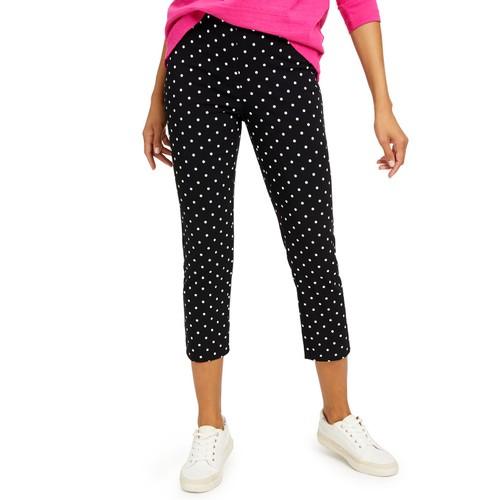 Charter Club Women's Capri Tummy-Control Skinny Pants Black Size 8