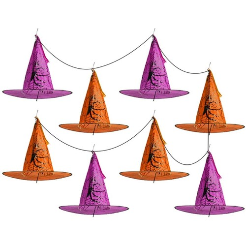 8-Pack BIGTREE Halloween Patio Porch Pathway LED Decoration Season Autumn Witch Hats