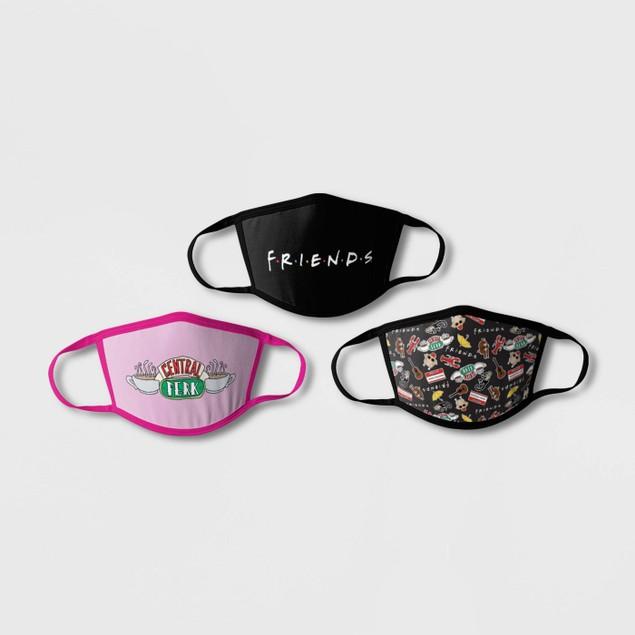 3-Pack: Boys & Girls Licensed Cartoon Reusable Washable Face Masks