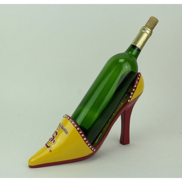 Usc Trojans Classic High Heel Shoe Wine Bottle Wine Bottle Holders
