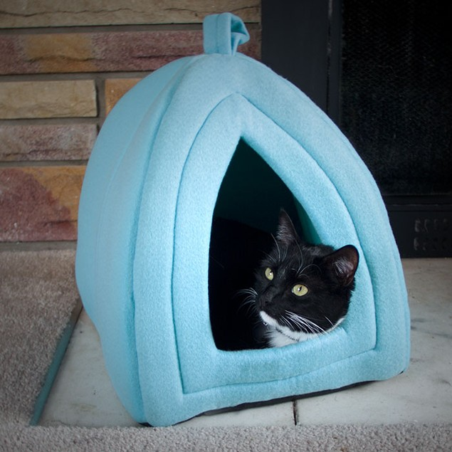 Cozy Kitty Tent Igloo Plush Cat Cave Bed
