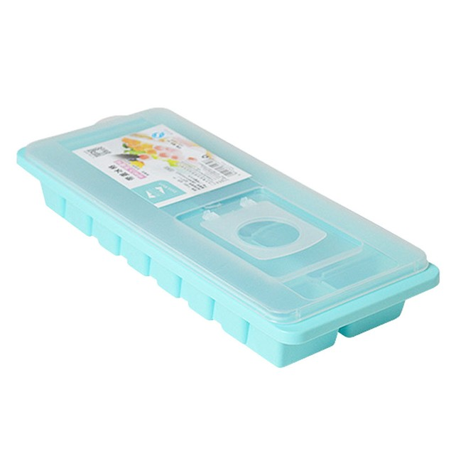 Ice Cube Tray Box With Lid Cover Drink Jelly Freezer Mold Mould Maker