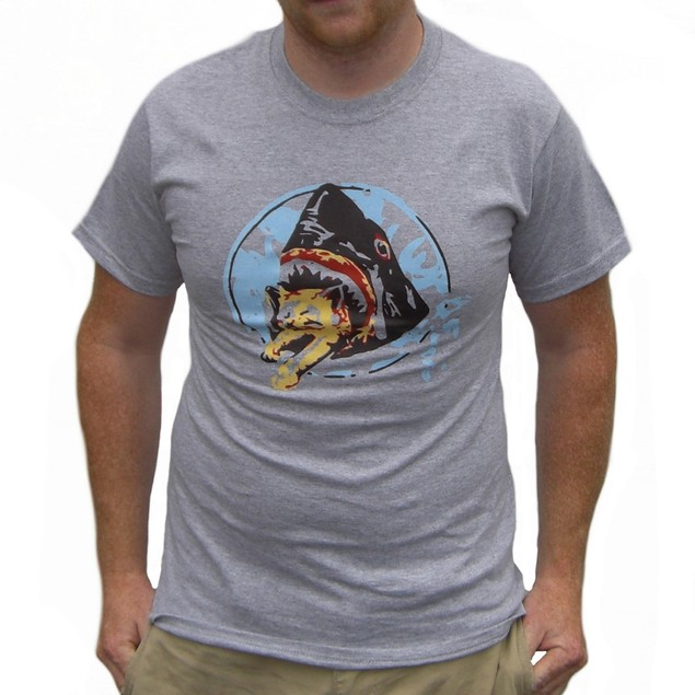 Saul Silver's Shark Eating Kitten T-Shirt