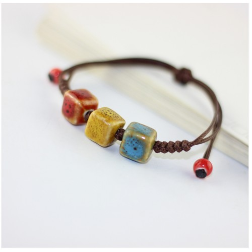 Ceramic Love Bangles for Women Accessories Vintage Jewelry