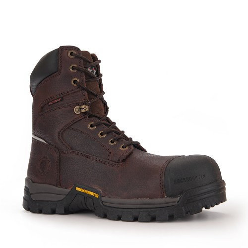 ROCKROOSTER Mens Work Boots Waterproof Composite Toe Safety Shoes