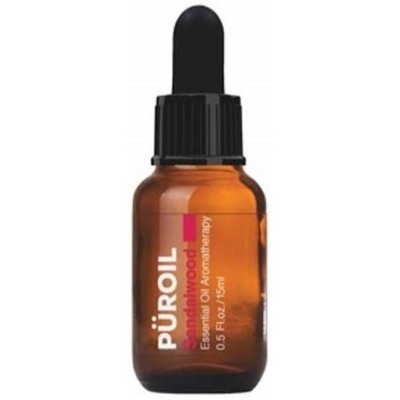 Puroil Sandalwood Essential Oil Aromatherapy, Dropper Bottle, 0.5 Fluid