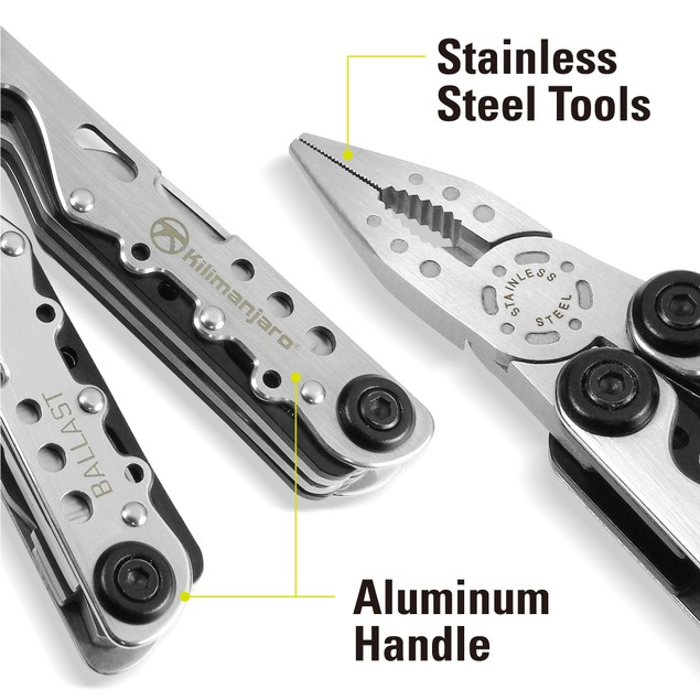 Kilimanjaro 13-in-1 Multi-Tool with Nylon Belt Pouch
