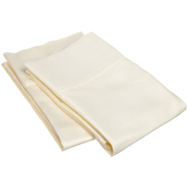 Cotton-Blend Solid 200-Thread Count 2- Piece Pillowcase Set