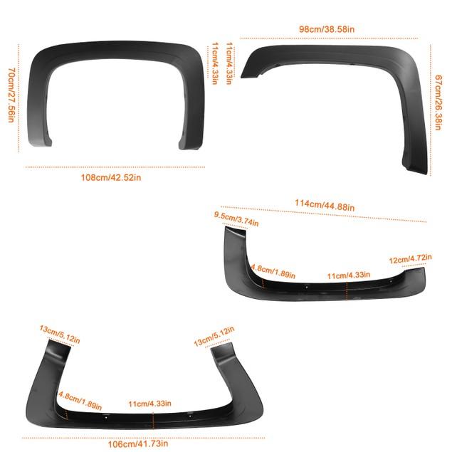 4PCS Wheel Rivet Fender Flares Pocket Style for Chevy Silverado