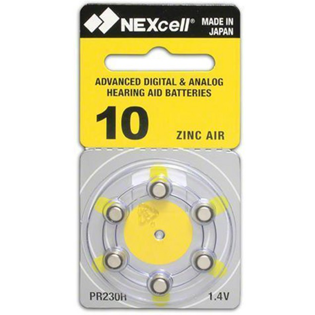 NEXcell Size 10 MF Zinc Air Hearing Aid Batteries (60 pack)