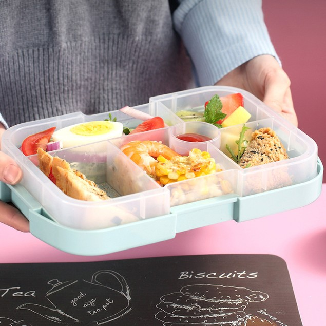 Children's Lunch Box, Microwave Oven, Student Lunch Box, Plastic Compartment, Portable School Lunch Box