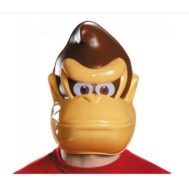 Donkey Kong Mask DK Gorilla Video Game Country Face Cosplay Gamer Super
