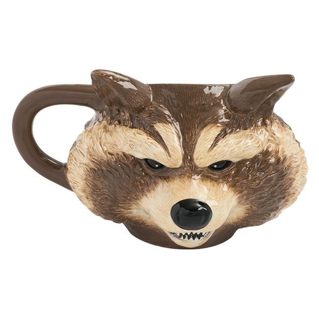 Marvel GOTG 16 oz. Rocket Sculpted Ceramic Mug