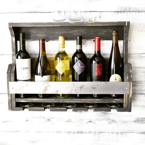 Rustic Wine Rack, Wine Storage, Gifts For Him