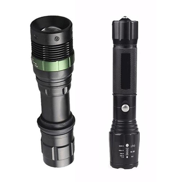 CREE XM-L T6 LED Rechargeable  Flashlight Torch Lamp AC + Battery Charger
