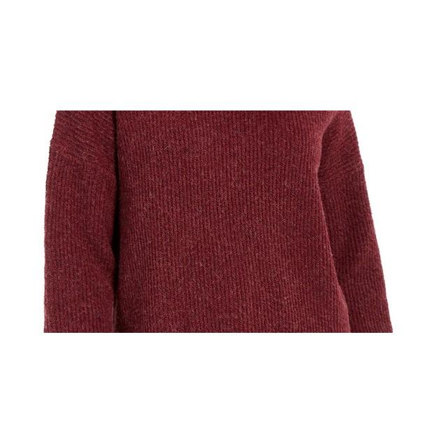 Hippie Rose Juniors' Turtleneck Sweater Red Size Medium