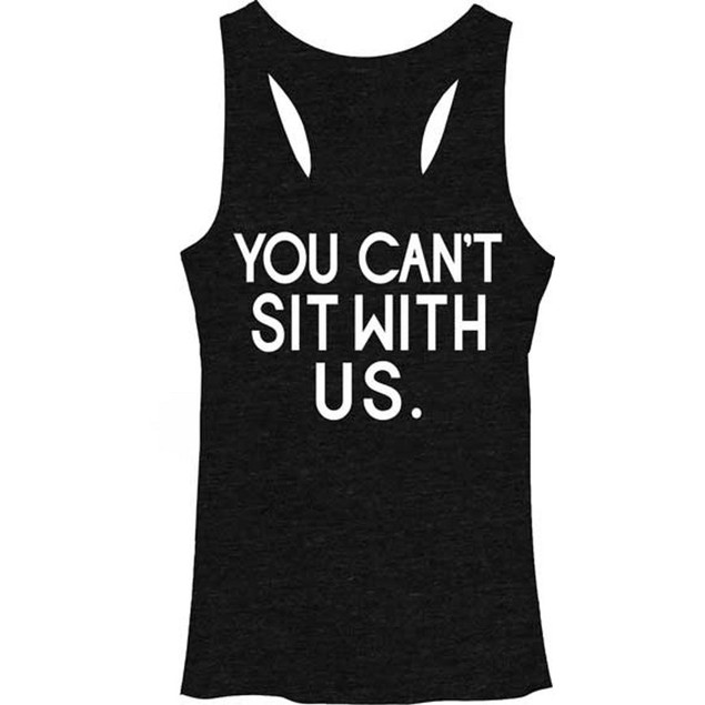 You Can't Sit With Us Mean Girls Womens Tank Top Regina George