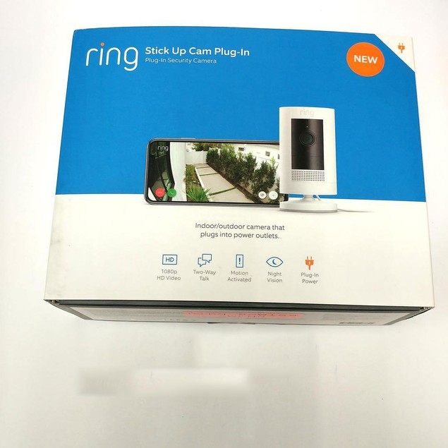 Ring Stick Up Cam Plug-In HD Wired security camera (3rd Generation)- White