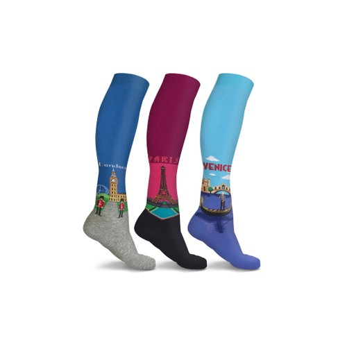 DCF Travel Destination Compression Socks (3-Pairs)