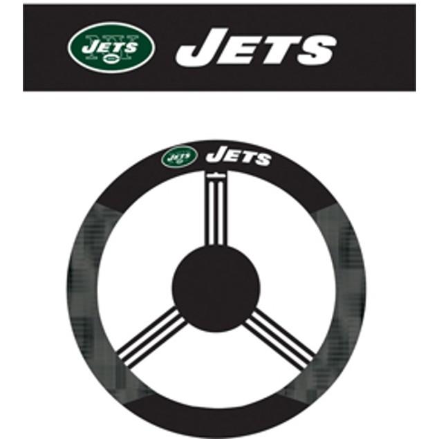 New York Jets Steering Wheel Cover NFL Football Team Logo Poly Mesh