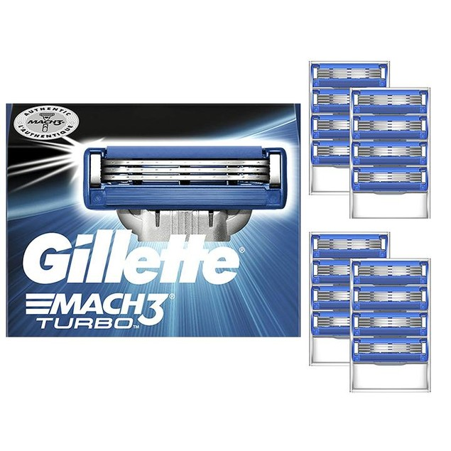 8-Pack Gillette Mach3 Turbo Men's Razor Blades